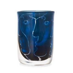** Ingeborg Lundin ariel glass vase, Orrefors 1973.