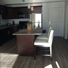 Seasons on the Boulevard is all about affordable, upscale, urban living! This chic open kitchen is luxury living at its finest!