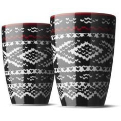 Menu Marius Black Wool Thermo Cup Set of 2 x