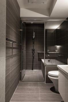 灰色石板浴室