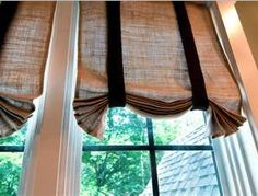 Burlap curtain panels