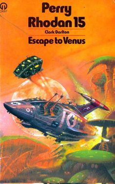 PETER ANDREW JONES - art for Escape to Venus (Perry Rhodan 15) by Clark Darlton - 1975 Orbit Books