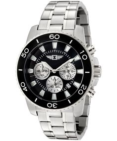 nice I By Invicta Males's 43619-001 Chronograph Stainless Metal Black Dial Watch