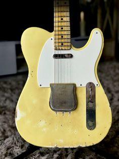 Fender Telecaster, my paintjob & relic Strat Guitar, Fender Telecaster, Guitars, Fender Esquire, Madness, Music Instruments, Vintage, Musical Instruments, Vintage Comics