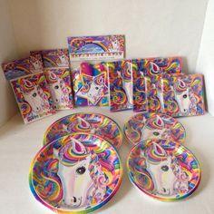New Lisa Frank Rainbow Majesty Horse Birthday Birthday Party Kit For 16 Guests #LisaFrank #BirthdayChild