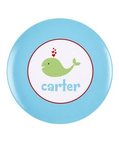 Love this Valentine's Chevron Whale Personalized Plate on #zulily! #zulilyfinds