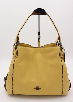 564f00653d NWT COACH Edie 31 Pebble Leather Shoulder Bag in Saddle Brown Retail  350  889532703524