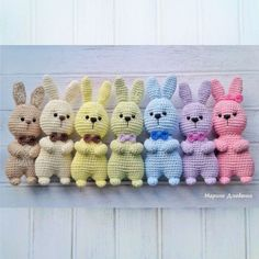 Crochet bunnies amigurumi