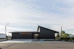 墨色のモダンな家・間取り(岐阜県) | 注文住宅なら建築設計事務所 フリーダムアーキテクツデザイン