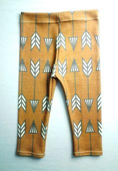 Sweet Kiddo rust arrows organic cotton leggings, hipster leggings, modern baby