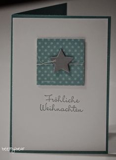 Christmas card More Source by gertrudkuhn Stampin Up Christmas, Handmade Christmas, Christmas Crafts, Xmas, Christmas Ideas, Star Cards, Diy Father's Day Gifts, Winter Cards, Stamping Up