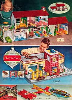 Toys from 1952 Sears Wish Book