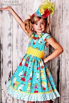 Circus dress Childrens Girl Dress Toddler Dress by ItsaBowsLife, $48.00