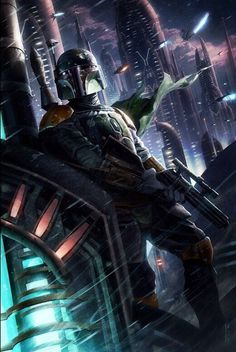Star Wars Boba Fett portrait - Geekery fan art illustration - poster size art print, available in multiple sizes. Description from pinterest.com. I searched for this on bing.com/images