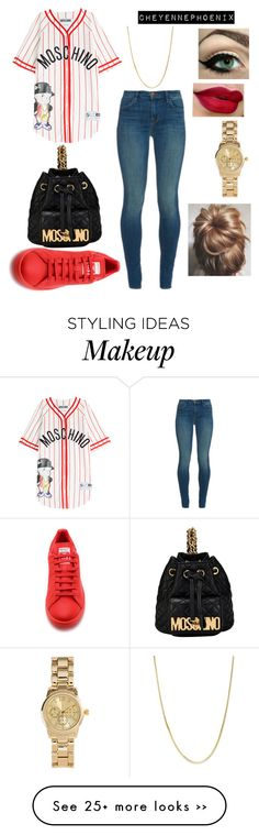 """Untitled #1078"" by will-twerk-for-chanel on Polyvore featuring Moschino, J Brand, adidas, Giani Bernini and H&M"