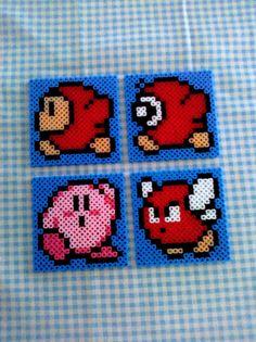 Kirby Perler Bead Coasters by shutyourbrains