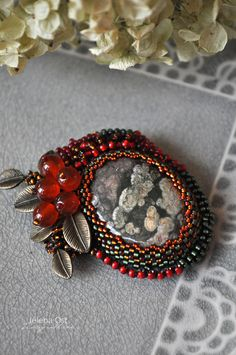 pretty beading, but I would have chosen a different stone....b
