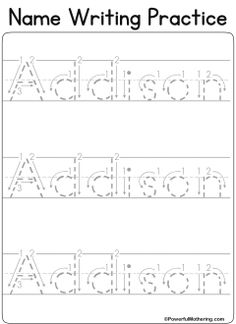 Custom Name Tracing Worksheet Name Activities Preschool, Preschool Writing, Kids Writing, Preschool Worksheets, Learning Activities, Preschool Projects, Preschool Supplies, Enrichment Activities, Learning Tools