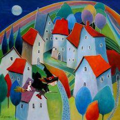 "Saatchi Art Artist Iwona Lifsches; Painting, ""Ulla, The Little Witch,  SOLD"" #art"