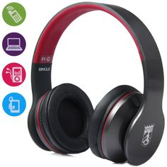 Professional BINGLE F1 Great Sound Supra-aural Wired Headset Pluggable with Microphone Earphone Headphone for Music Computer | #HeadphoneswithMicrophone