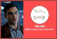 Tom Ford glasses from X-Men: Apocalypse seen with Nicholas Hoult (Hank McCoy / Beast)