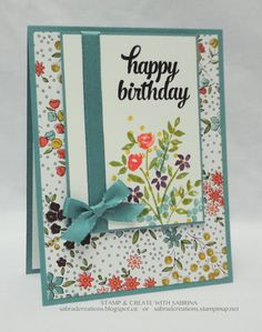 Attending a VanIsle Stampin' Up Meeting today and participating in a Birthday Card Exchange. Only current things are to be used in the makin...