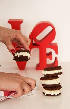 #ValentinesDay #IceCreamSandwich #Dessert
