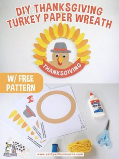 This DIY Thanksgiving Turkey Wreath is an easy Thanksgiving crafts for kids. Thanksgiving Crafts For Kids, Thanksgiving Parties, Thanksgiving Activities, Thanksgiving Wreaths, Fun Crafts For Kids, Toddler Crafts, Crafts To Do, Fall Crafts, Projects For Kids