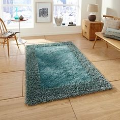 Sable Two Shiney Shaggy Rugs in Silver - Free UK Delivery - The Rug Seller