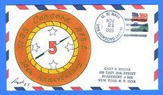 USS Concord AFS-5 20th Anniversary 1989 - Rogak Handpainted Cachet