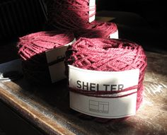Red Wool (Shelter by Jared Flood / Brooklyn Tweed) rolled & ready to go!