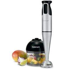 Cuisinart presents a sophisticated hand blender that does a lot more than blend! The elegant brushed stainless steel Smart Stick Hand Blender has its own chopper/grinder attachment, and enough power to chop nut Hand Mixer, Kitchen Gadgets, Kitchen Appliances, Kitchen Tools, Small Appliances, Kitchen Stuff, Kitchen Products, Kitchen Things, Kitchen Depot