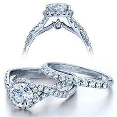 VERRAGIO Twist White Gold Diamond Engagement Ring Couture-0384