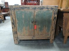 Antique Chinese Storage Cabinet Or Console In Teal Green By Modernredla Reproduction Furniture