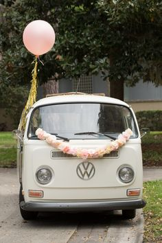 VW vintage Spring wedding