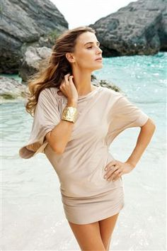Love this beach look-Michael Kors cover-up