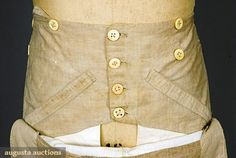 1830s menswear info on pants, shirts, and corsets