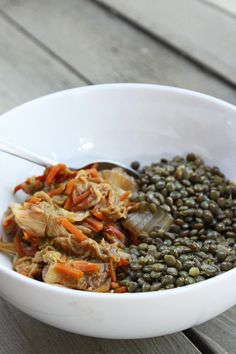 Add to the lentils with some garlic cloves. | Braised Lentils ...
