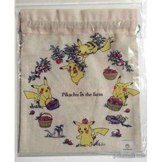 Pokemon Center 2015 Pikachu In The Farm Campaign Size Drawstring Dice Bag