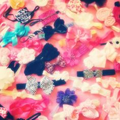 Naomi's bow collection. DIY . Bows. Girly. Instagram @sophiamarieokiyama