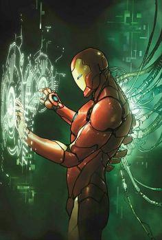 (Invincible Iron Man Vol 2 Variant Cover) By: Sara pichelli. Marvel Comics, Heros Comics, Marvel Art, Marvel Heroes, Comic Book Characters, Marvel Characters, Comic Character, Comic Books Art, Comic Art