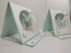 handcrafted card from Personally Yours : Stampin' Up! Butterflies Thinlits: Mother's Day Easel Suspension Spinning Card ... fantastic card ... and she shares info on how to make it on her blog ...