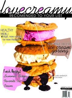 cover ice cream magazine :3