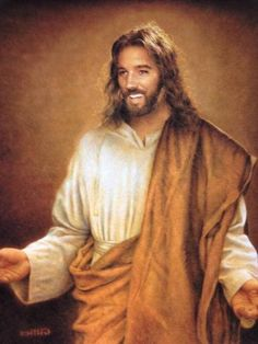 It is good to see Jesus in a different way than in that suffering image we always see. Find pictures of Jesus smiling and laughing here Jesus Face, My Jesus, Jesus Smiling, Sainte Rita, Image Jesus, Pictures Of Jesus Christ, Religious Pictures, Saint Esprit, Jesus Christus