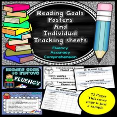 Reading Goals For Individual Children – Posters and Tracking Forms - Teaching for the love of it.