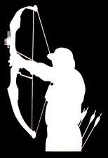 Bow Hunter Hunting Compound Bow Archery Vinyl Decal Car Truck Window Sticker