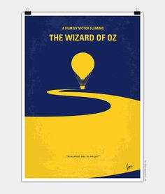 iCanvas Wizard Of Oz Minimal Movie Poster Gallery Wrapped Canvas Art Print by Chungkong Canvas Artwork, Canvas Art Prints, Framed Art Prints, Fine Art Prints, Poster Prints, Minimal Movie Posters, Cinema Posters, Movie Poster Art, Poster Poster