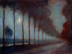 Jan Mankes (Dutch, 15 August 1889 - 23 April 1920) Evening Landscape, 1912