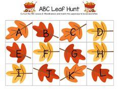 ABC Leaf Hunt FREEBIE!  Visit www.littlelearninglane.com for more fun ideas & free printables!