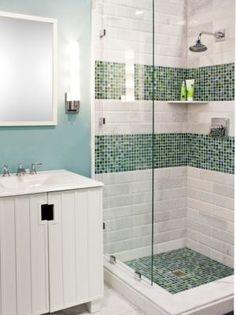 Bathroom gallery inspiration the tile shop - Bathroom tile vertical stripe ...